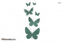 Cute Butterfly Cartoon Silhouette