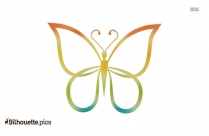 Cartoon Butterfly Outline Silhouette