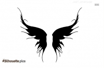 Angel Butterfly Wings Silhouette Illustration
