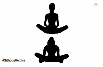 Butterfly Yoga Silhouette Image And Vector
