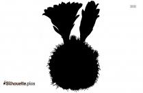 Cactus Fruit Vector Silhouette