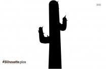 Cactus Silhouette Simple Vector Image