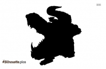Free Running Tiger Silhouette