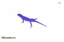 Lizard Silhouette Icon Vector