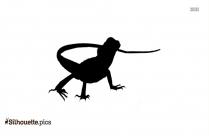 Caiman Lizard Silhouette Icon