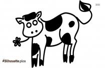 Jersey Calf Cartoon Silhouette