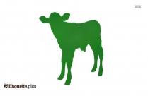 Newborn Calf Silhouette