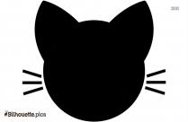 Cat Face Silhouette Clipart