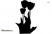 Black Cute Flower Silhouette Image