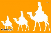 Camel Ride Silhouette