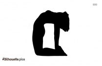 Simple Yoga Pose Silhouette