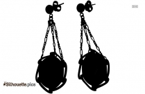 Coral Earrings Silhouette Image