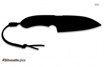 Combat Knife Silhouette Illustration