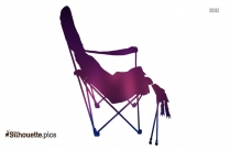 Mobile Camping Chair With Footrest Silhouette