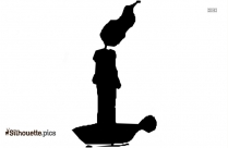 Candle And Wax Clip Art Silhouette