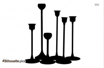 Candle Holder Cartoon Silhouette