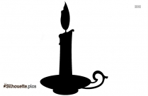 Candlestick Clipart Silhouette Image