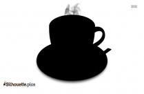 Cappuccino Coffee Cup Silhouette Vector