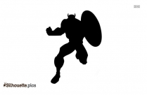Captain America Silhouette Illustration