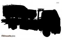 Car Carrier Trailer Silhouette Free Vector Art