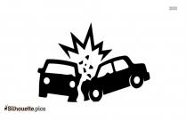 Car Crashing Silhouette Image