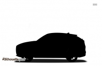 Car Side View Silhouette Black And White