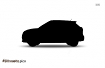Sports Car Black And White Silhouette