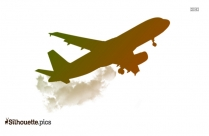 Luxury Private Jets Silhouette Background