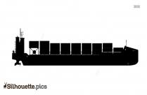 Colonial Ship Silhouette