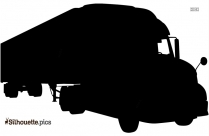 Cargo Truck Silhouette Background