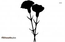 Black Spring Flowers Silhouette Image
