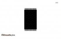 Rug Cartoon Vector Silhouette Image