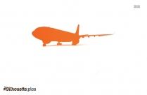 Cartoon Aircraft Silhouette Background