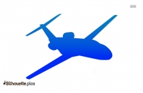 Cartoon Airplane Silhouette Background