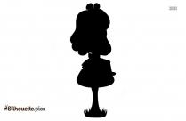 Cartoon Alice In Wonderland Silhouette