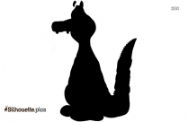 Cartoon Crocodile Silhouette
