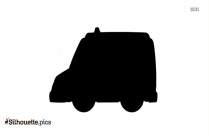 Ambulance Clipart Silhouette Background