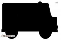Cute Toy Van Silhouette Vector Image