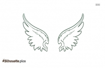 Cartoon Angel Wings Icon Silhouette