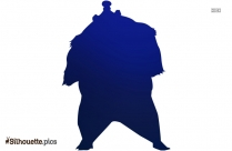 Angry Black Bear Silhouette Illustration