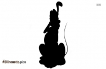 Black And White Tigger Jumping Silhouette