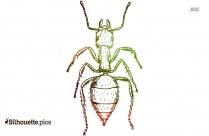 Cartoon Ant Silhouette Clip Art