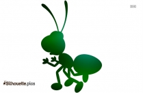 Simple Ant Drawing Silhouette Drawing