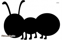 Cartoon Ant Silhouette Image And Vector