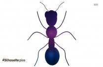 Cartoon Ant Silhouette Clipart Image