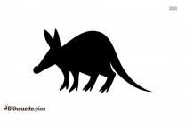 Cartoon Anteater Silhouette