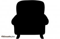 Cartoon Wooden Chair Silhouette