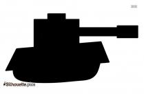 Military Tank Silhouette Art