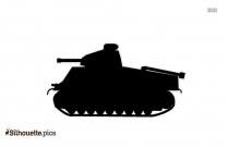 Cartoon Army Tank Silhouette Free Vector Art