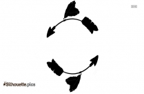 Right Arrow Silhouette Pic Image
